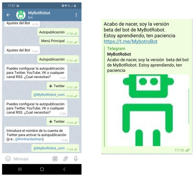 Bot de Telegram ya creado