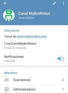 Crear Bot en Telegram por Miriam Bustos paso previo crear canal de Telegram y optimizarlo