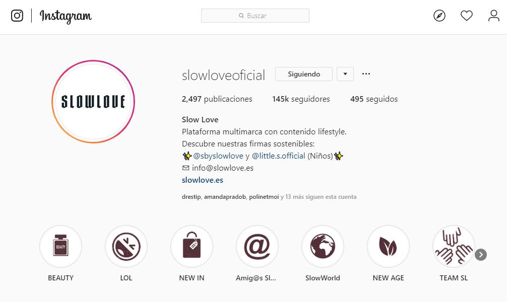 perfil optimizado para vender productos en Instagram