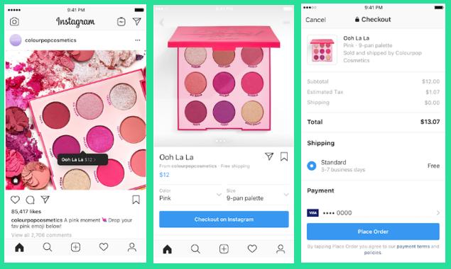 Posibilidad en USA de vender productos en Instagram sin salir de la app