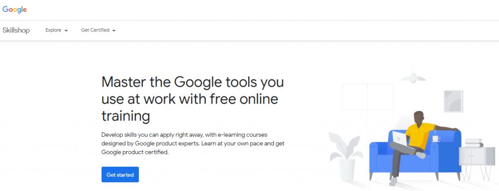 Home de Google Skillshop, la mejor forma de conocer las herramientas de growth hacking gratuito