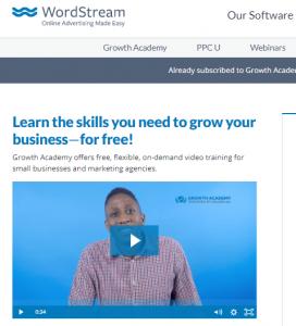 Home de Growth Academy, una de las más importantes herramientas de growth hacking gratuito