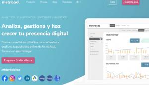 home de la herramienta Metricool, una de las más conocidas herramientas de growth hacking gratuito en el ámbito de social media