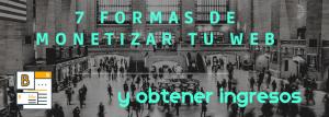 Cabecera del blog de Miriam Bustos correspondiente al post 7 formas de monetizar tu web